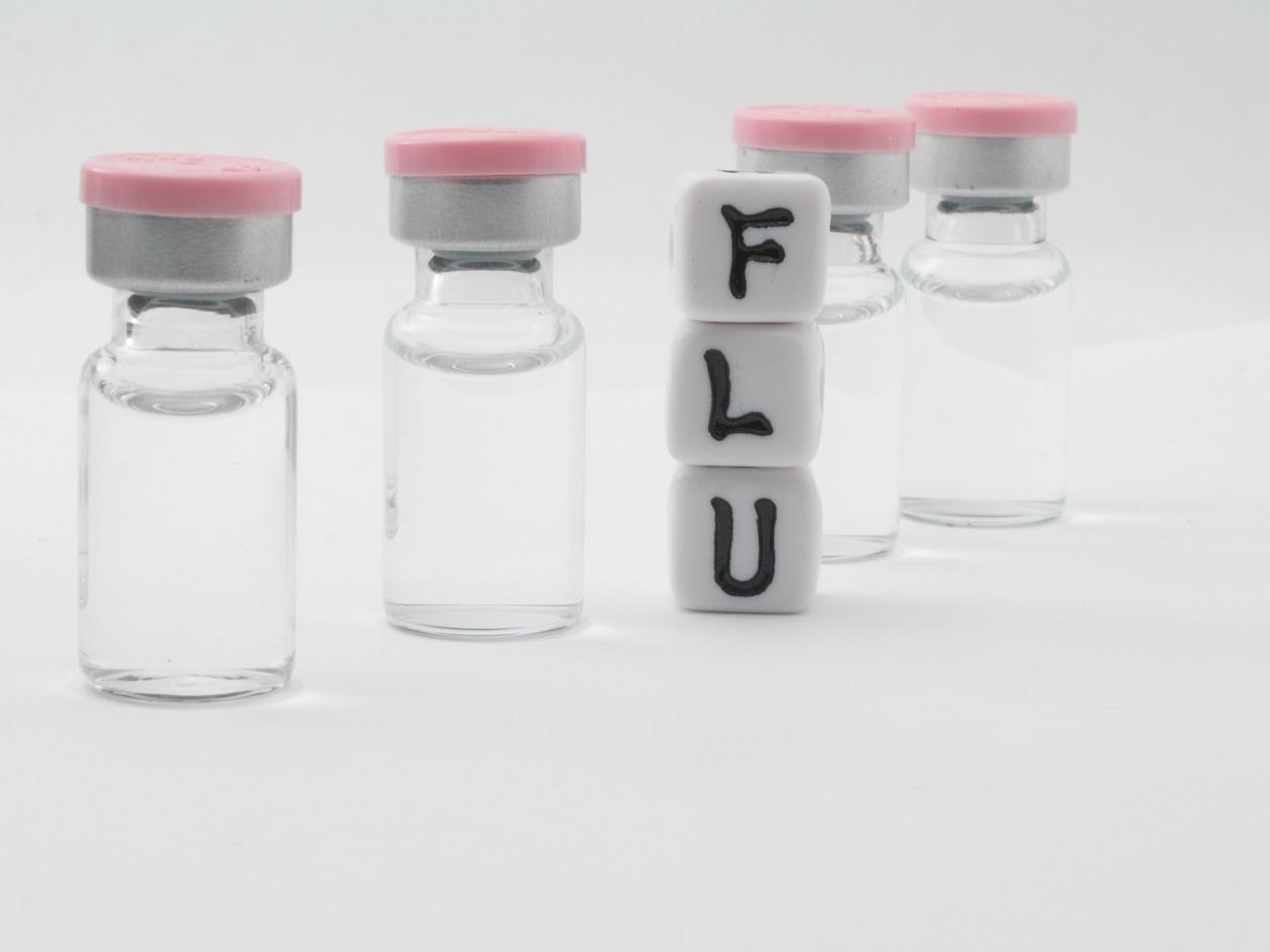 flu vaccine vials