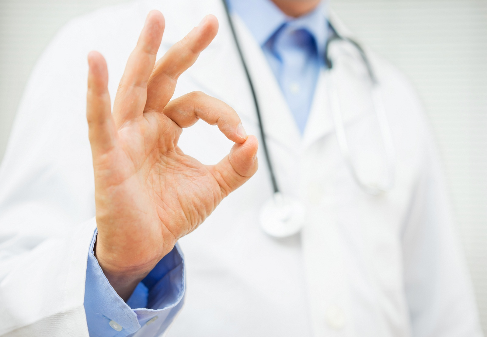 doctor giving the A-okay sign