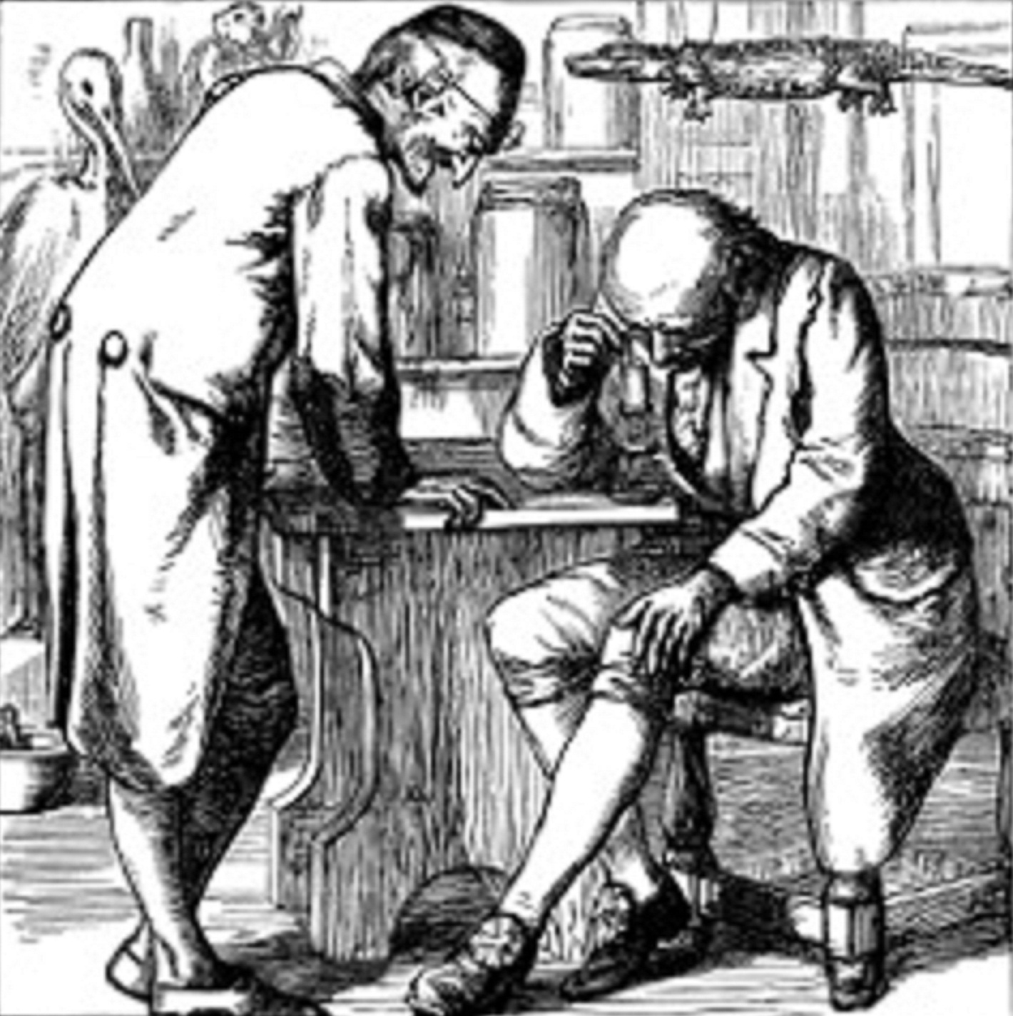 18th century physician and patient