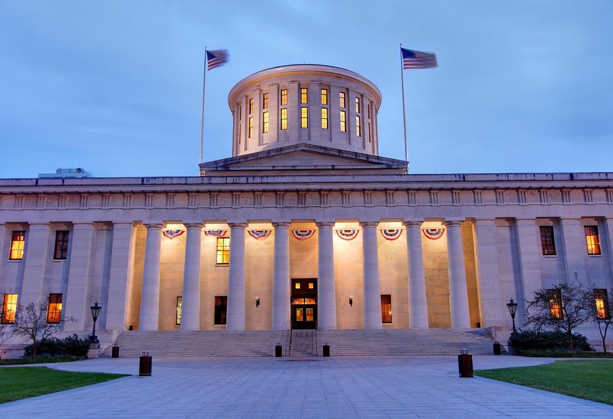 Ohio statehouse in Columbus